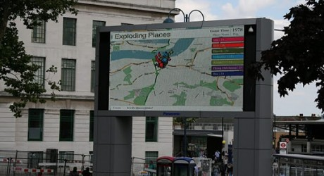 BBC screen showing Exploding Places
